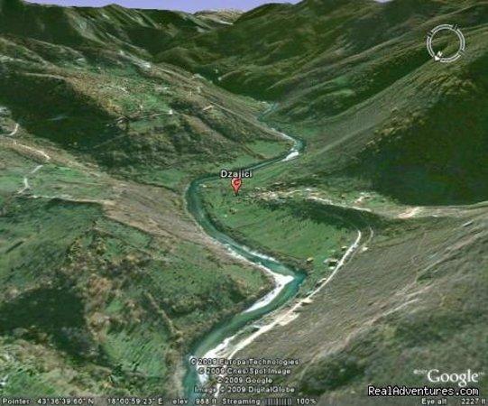 Konjic, Bosnie-Herzégovine : selo Džajići google_mapa www.raft.ba