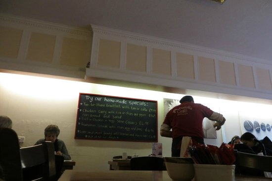 Anatolia Cafe: owner/chef and specials board