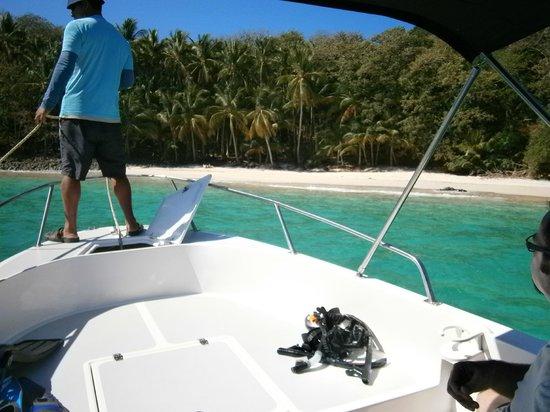 Hotel Bocas del Mar: llegando a una de las islas