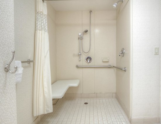 Hampton Inn Milpitas - Accessible Roll-in Shower