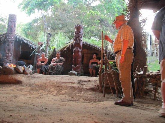 Mitai Maori Village: Chief B**** introducing 22 nations