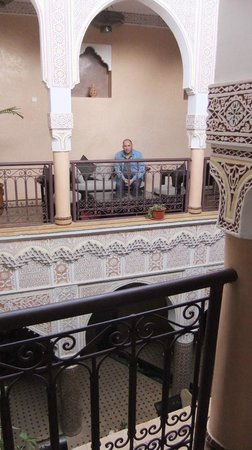 Riad - Hotel Marraplace : zitje in de hal
