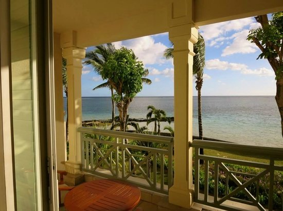 La Residence Hotel: Our amazing view and our handy balcony, from which to gaze at it