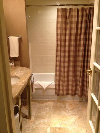 Hotel Commonwealth: Looking into Bathroom