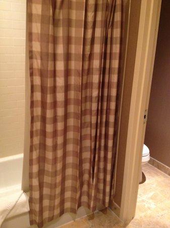 Hotel Commonwealth : Looking into bathroom