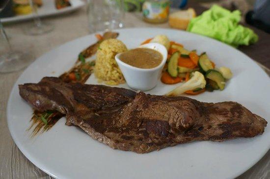 La Cuisine du Boucher : [Spécial Fête des Grands Mères] Rumteck sauce cèpes, boulgour aux asperges et légumes