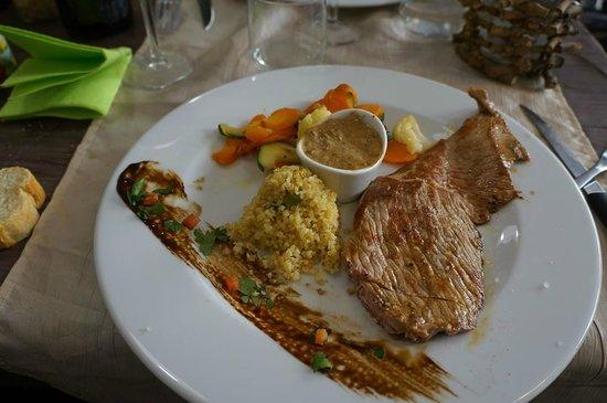 La Cuisine du Boucher : [Spécial Fête des Grands Mères] Escalope sauce cèpes, boulgour aux asperges et légumes
