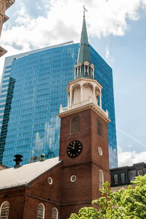 Old South Meeting House: Old Meeting Hall & Modern Building