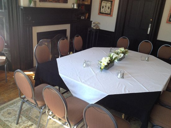 Jovanna at the Harrop House Restaurant: Cozy and inviting rooms to host meeting, birthday parties, anniversaries and much much more!