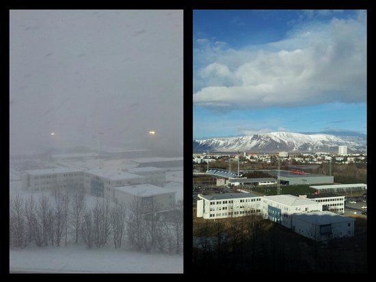 Reykjavik Lights: The difference a day makes to the view!
