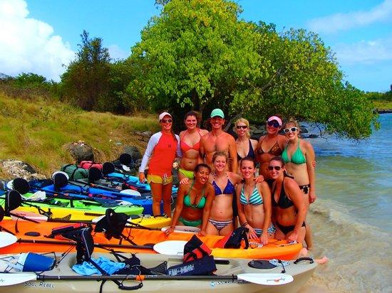 Conservation Kayak: break for lunch on Hog Island