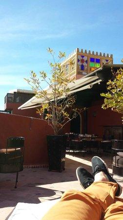 Riad Argan: La terrasse, incroyablement reposante