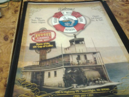 Searchlight Nugget Casino: Menu for the Cafe