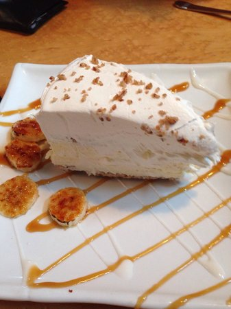 Aqua Grill: Delicious banana cream pie