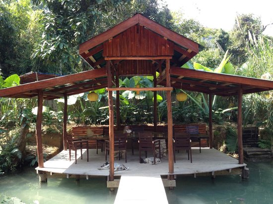 Kuang Si Falls Butterfly Park: A great place to have a beer or coffee
