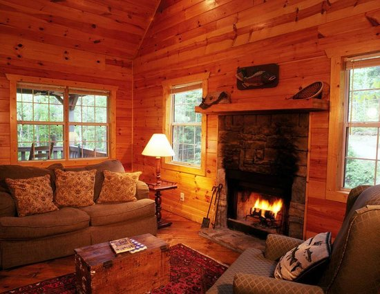 Wilderness View Cabins: Wood Burning Fireplace at Shanty Creek!