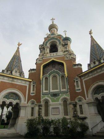 Cathédrale Orthodoxe Russe Saint-Nicolas de Nice : Igreja Russa cheia de detalhes!