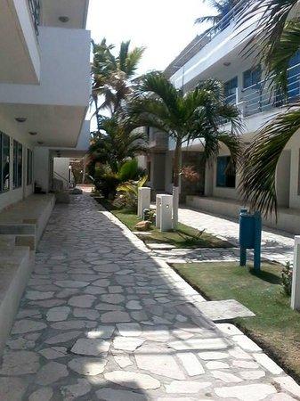 Hotel PortoAlegre Covenas: Entrada al hotel, muy bonita
