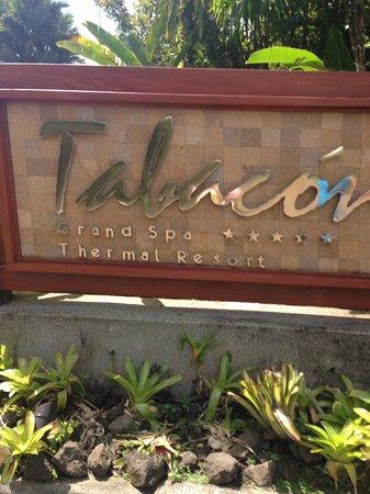 Tabacon Thermal Resort & Spa: Resort Sign