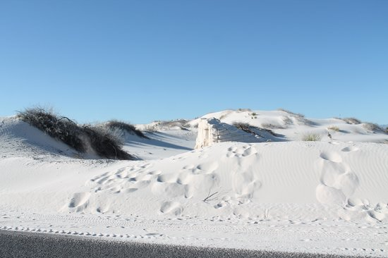 White Sands National Monument: As white as snow