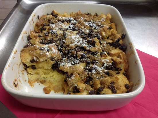 Bluebells: Bread and butter pudding