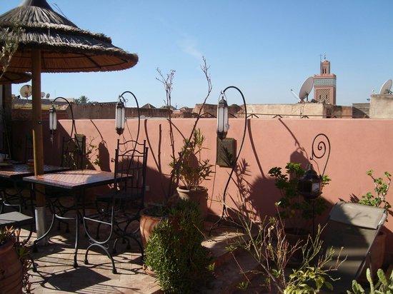 Riad Charme d'Orient: The terrace