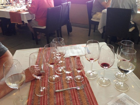 B&B Plaza Italia: Wineglasses at Ruca Malen