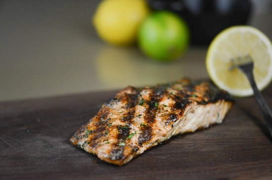 Red Door Woodfired Grill: Grilled Atlantic Salmon