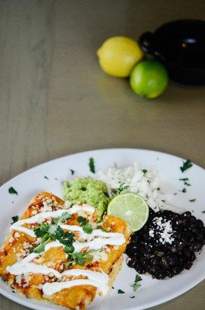 Red Door Woodfired Grill : Wild Mushroom Enchiladas