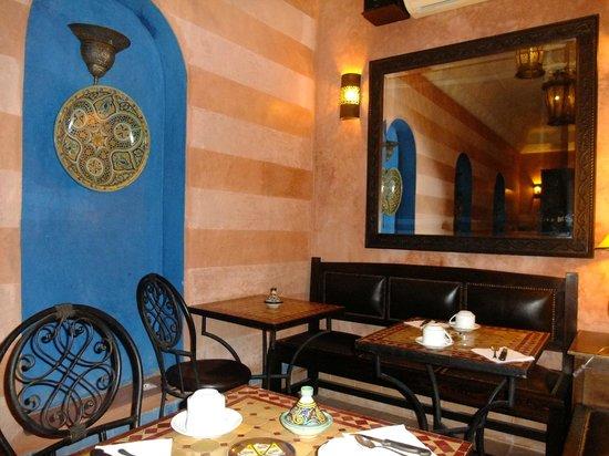 Riad Marrakiss : Comedor para desayunos