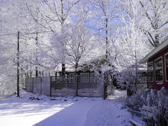 The Overlook Inn Bed and Breakfast: Beautiful Surroundings in Winter at The Overlook Inn!