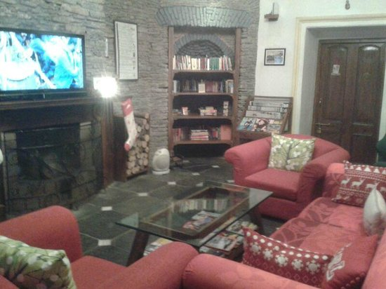 Rokeby Manor: The Lounge room and Fireplace in the LOBBY level