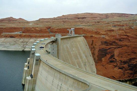 """Glen Canyon Dam: Vu """" d'en haut """" ..."""
