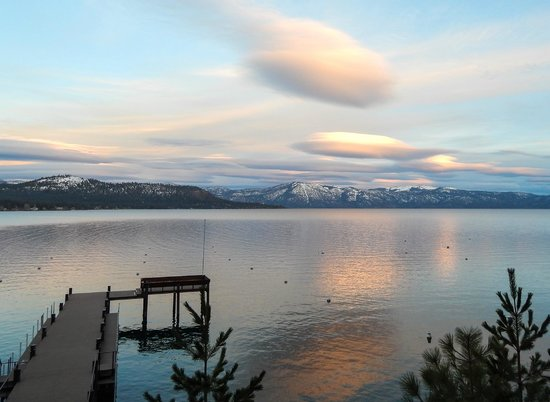 Lake Tahoe Area: Sunset looking East