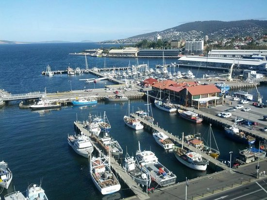 Grand Chancellor Hotel Hobart : View of the Harbour from the 19th floor