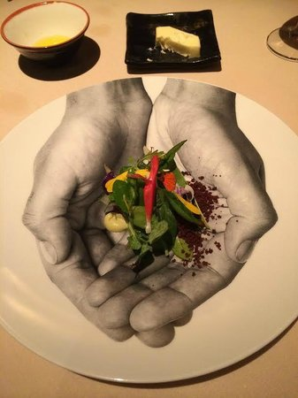 "Manresa: ""Into the garden"" - 30 vegetable salad, I think #3 of the 7 savory courses"
