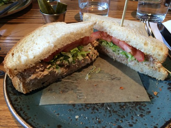 Family Meal: Fried chicken salad sandwich (very tasty)
