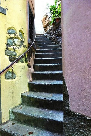 Hotel Gianni Franzi: Stairs to rooms ...
