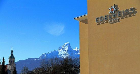 Hotel Edelweiss: Fensterausicht