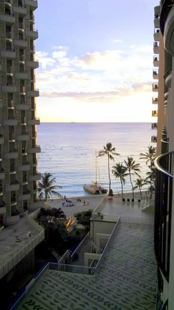 Outrigger Waikiki Beach Resort: View from a balcony