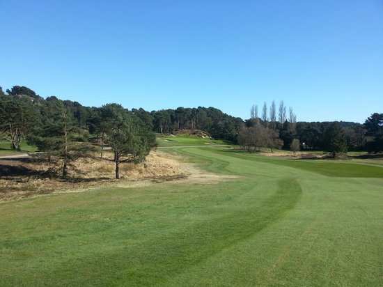 Parkstone Golf Club: view from top of the hill of 6th green