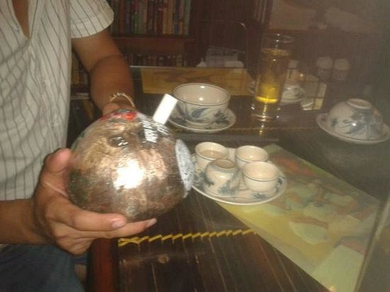 Vietnam Awesome Travel: alcohol in a coconut! yum