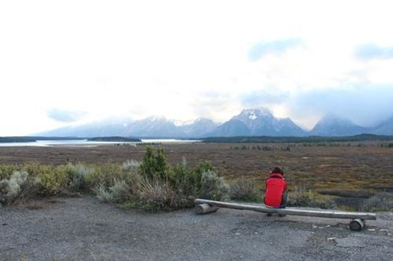 Jackson Lake Lodge : コテージそばのトレッキングルート