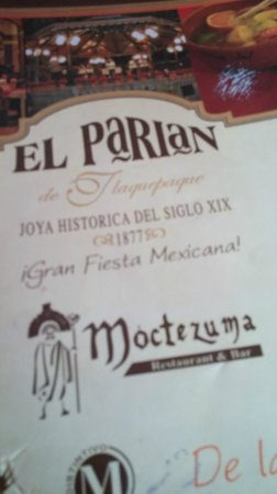 El Parian: menu