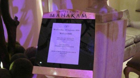 Hotel Gran Mahakam Jakarta: パネル