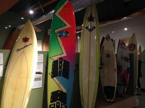 California Surf Museum: Surfboards through the ages.