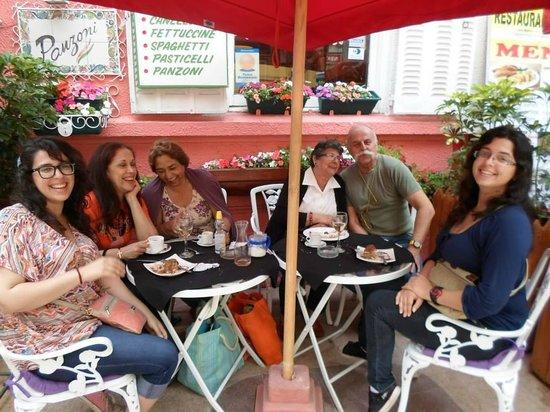 Panzoni: Con el amable anfitrión del restaurante
