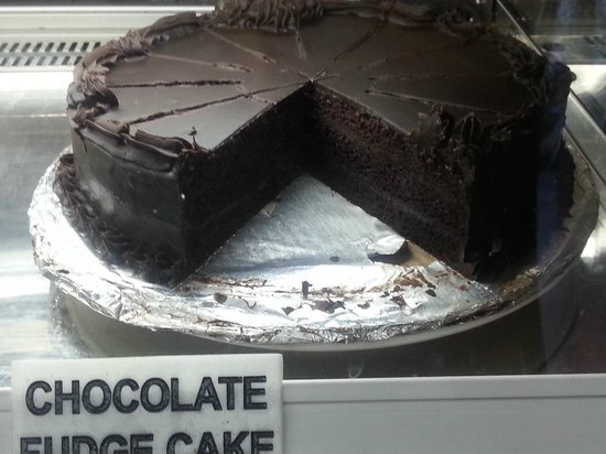 Africafe: Someone licked away the Choc-fudge cake foil!