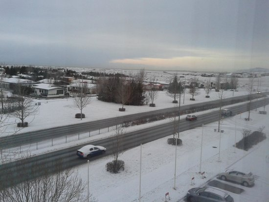 Hotel Hafnarfjordur: View from room 402 - overlooking main road but not disturbed by road noise