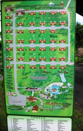 Arenal Springs Resort and Spa: map